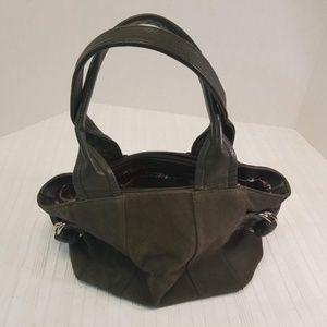 EUC. Tignanelo Olive Green Suede Bag